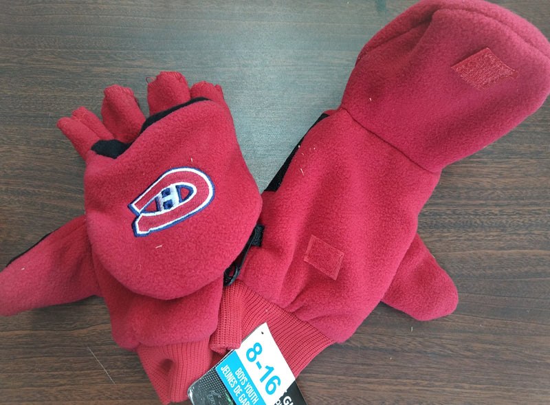 Montreal Canadiens -  Red Kids Gloves (8-16) - BigBoi Cards