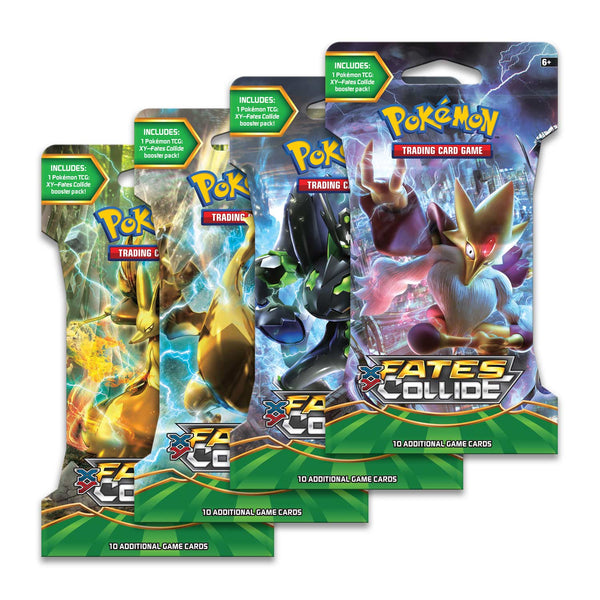 Pokemon  XY-Fates Collide Sleeved Booster Pack (24 packs a lot) - BigBoi Cards