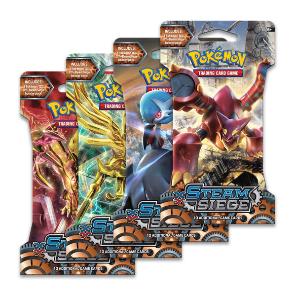 Pokemon XY-Steam Siege Sleeved Booster Pack (24 packs a lot) - BigBoi Cards