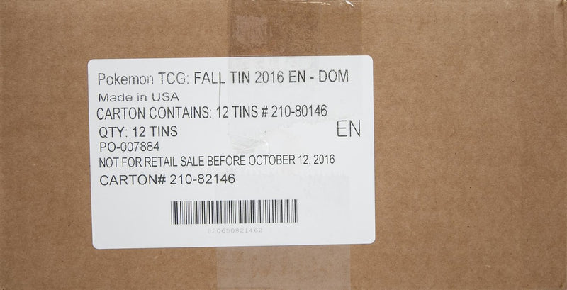 Pokémon TCG Fall Tin 2016 EN - DOM (Case of 12) - BigBoi Cards