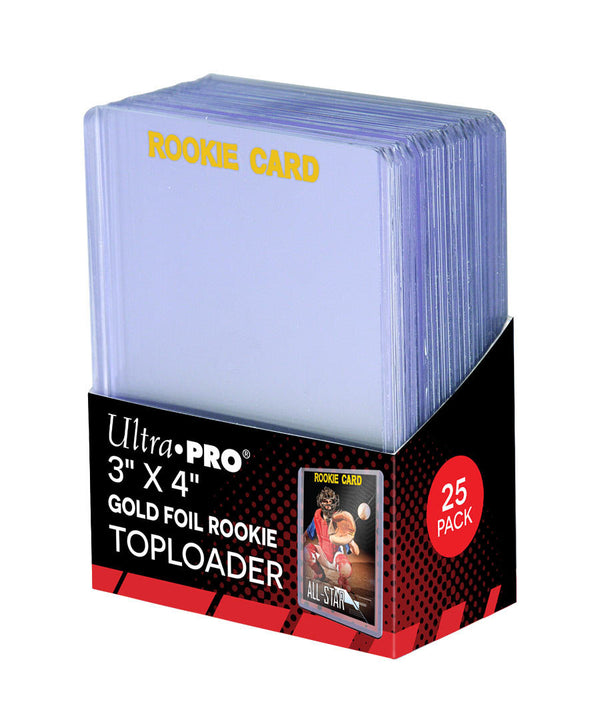 "Ultra Pro Gold Foil Rookie Card Toploaders 3"" x 4"" (Lot of 5) - BigBoi Cards"