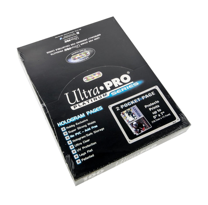 "Ultra Pro 2-Pocket Platinum Page with 5"" X 7"" Pockets - Quecan Distribution"