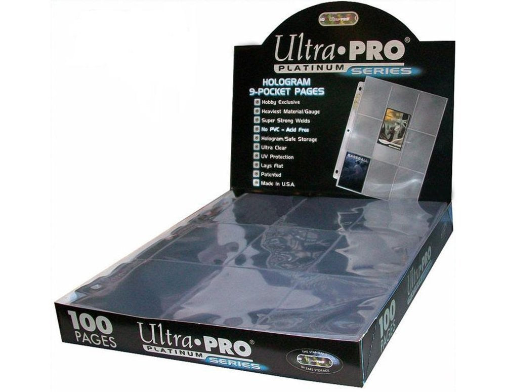 Ultra Pro 9-Pocket Platinum Page for Standard Size Cards Box