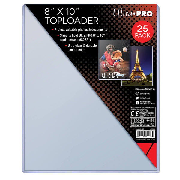"Ultra Pro 8"" x 10"" Toploader (25 count pack) - BigBoi Cards"