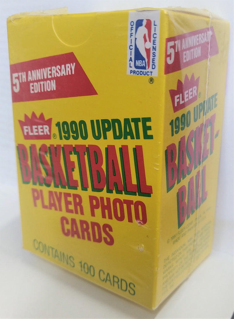 1990 Fleer Update Basketball Player Photo Cards Box - BigBoi Cards