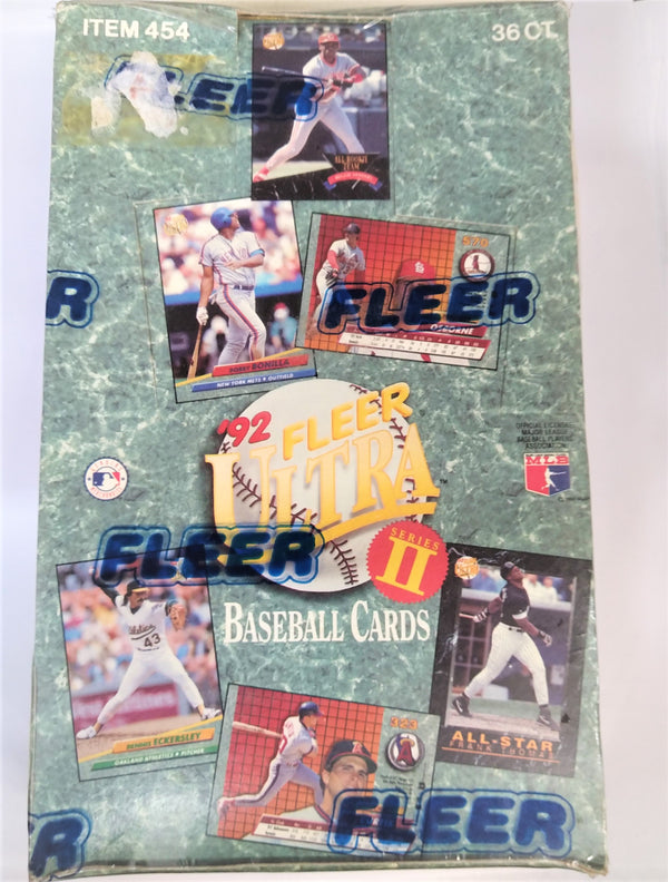 1992 Fleer Ultra Series 2 Baseball Cards Box - BigBoi Cards