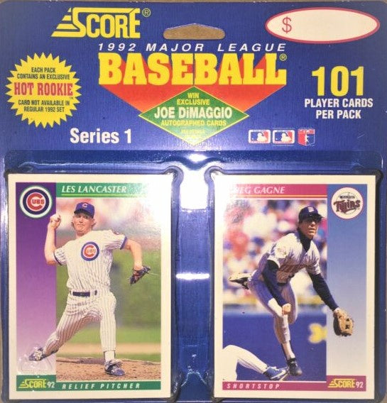 1992 Score Series 1 Baseball 101 Player Card Blister Packs - BigBoi Cards