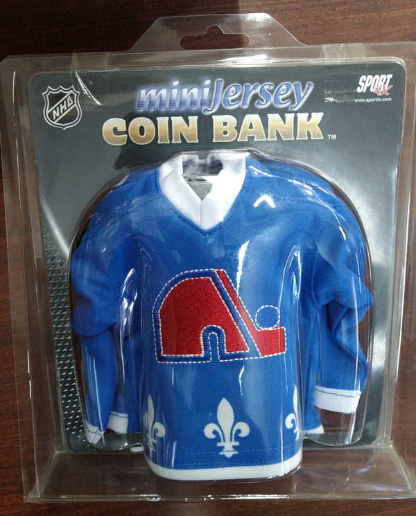NHL Blue Mini Jersey Coin Bank - BigBoi Cards