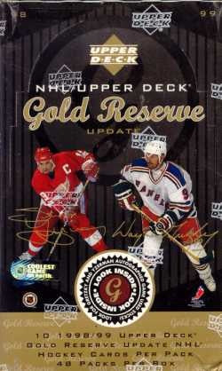 1998-99 Upper Deck Gold Reserve Hockey Hobby Sealed Box - BigBoi Cards