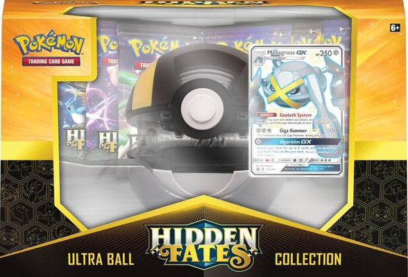 Pokémon TCG Hidden Fates Poké Ultra Ball Collection featuring Shiny Metagross GX Box - BigBoi Cards