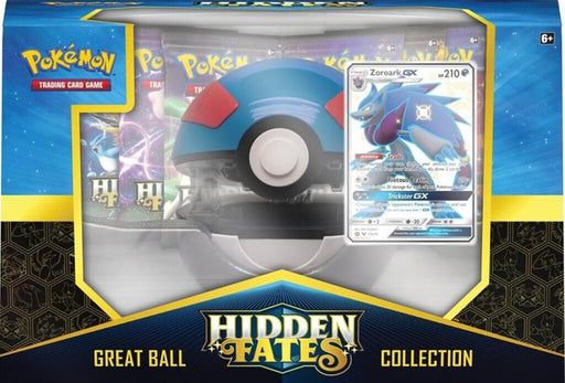 Pokémon TCG Hidden Fates Poké Great Ball Collection featuring Shiny Zoroark GX Box - Quecan Distribution