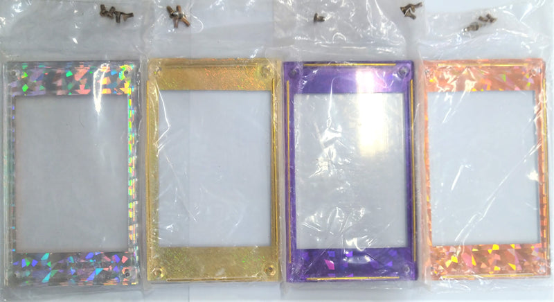 Ultimate Collection Single Card Holder with 4 Screws-Colored Border (Lot of 4) - BigBoi Cards