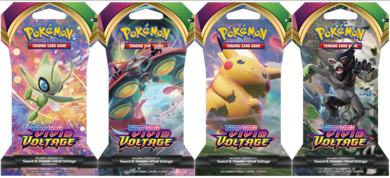 Pokemon SWSH4 Vivid Voltage Sleeved Booster Packs (24 packs a lot) - BigBoi Cards