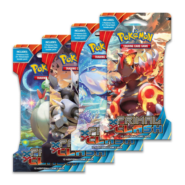 Pokemon XY5 - Primal Clash Sleeved Booster Pack (24 packs a lot) - BigBoi Cards