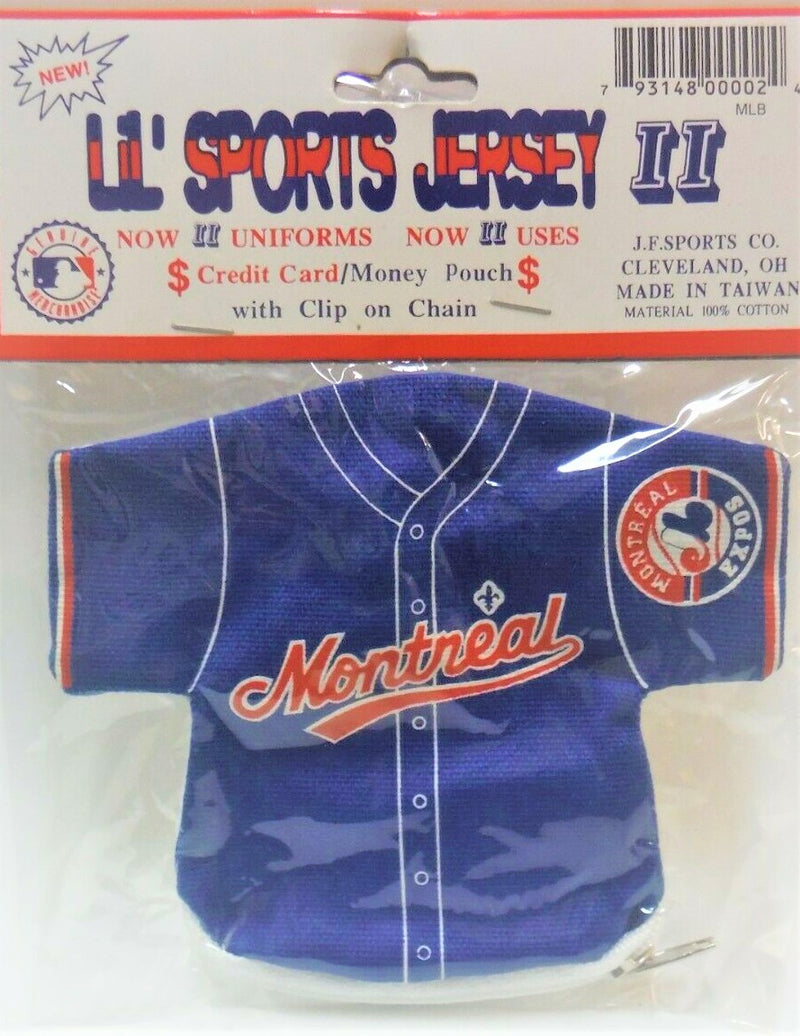 MLB Lil' Sports Jersey Money Pouch with Clip on Chain - BigBoi Cards