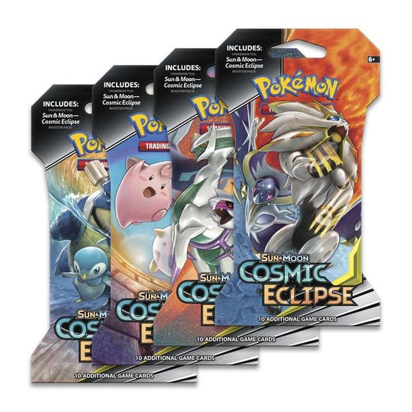 Pokemon Sun & Moon: Cosmic Eclipse Sleeved Booster Pack (24 packs a lot) - BigBoi Cards