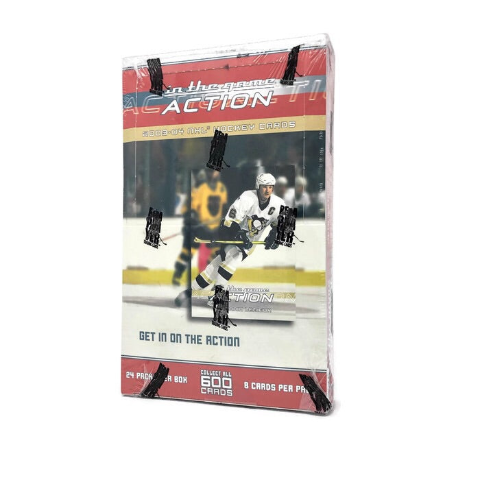 2003-04 In The Game Action Hockey Hobby Box - BigBoi Cards