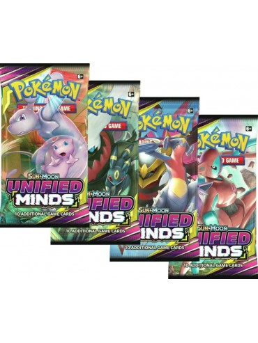 Pokemon Sun & Moon: Unified Minds Sleeved Booster Pack (24 packs a lot) - BigBoi Cards