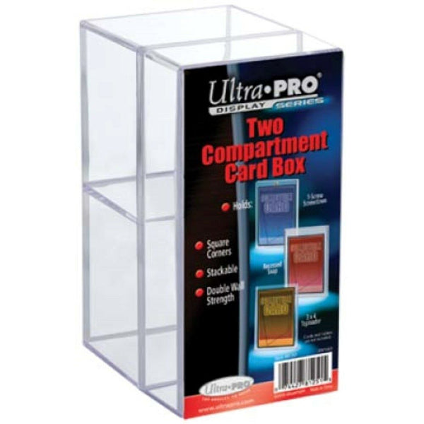 Ultra Pro 2-Piece Two Compartment Clear Card Box - BigBoi Cards