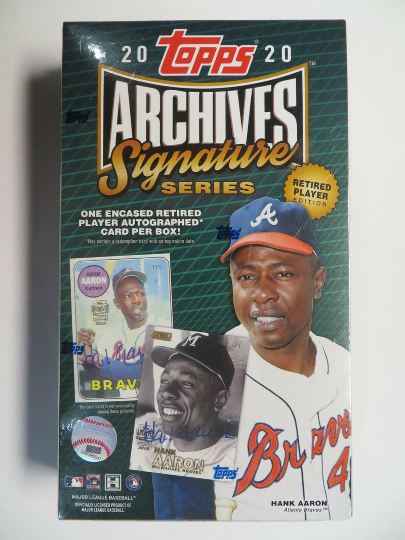 2020 Topps Archives Signature Baseball Retired Players Edition Hobby Box - BigBoi Cards