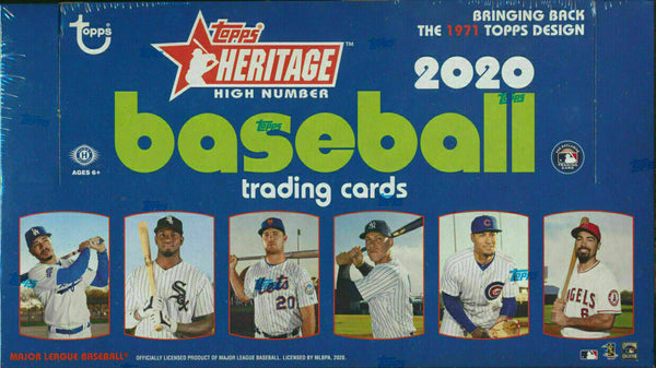 2020 Topps Heritage High Number Baseball Hobby Box - BigBoi Cards