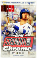 2020 Topps Stadium Club Chrome Updates Baseball Hobby Box - BigBoi Cards
