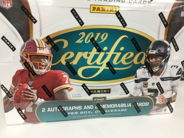 2019 Panini Certified Football Hobby Sealed Box - BigBoi Cards