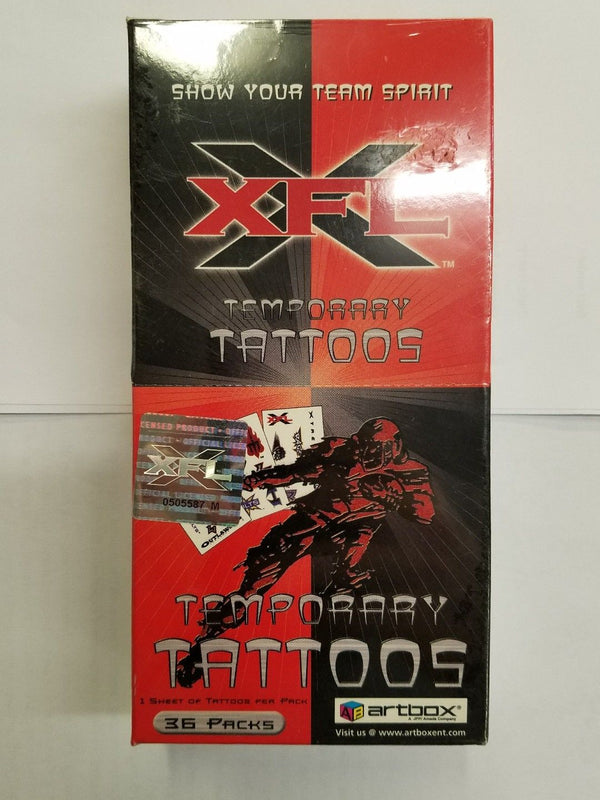 2001 Artbox XFL Football Temporary Tattoos - BigBoi Cards