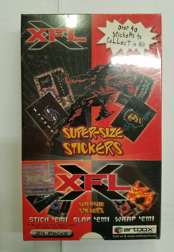 2001 Artbox XFL Football Super-Size Stickers - BigBoi Cards