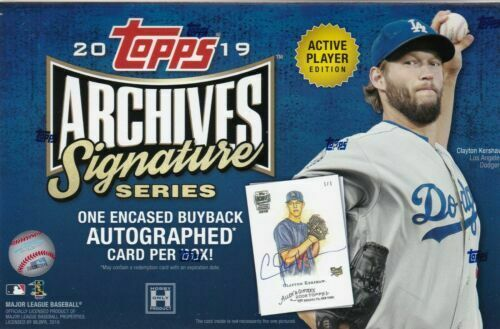 2019 Topps Archives Signature Series Baseball Box - BigBoi Cards