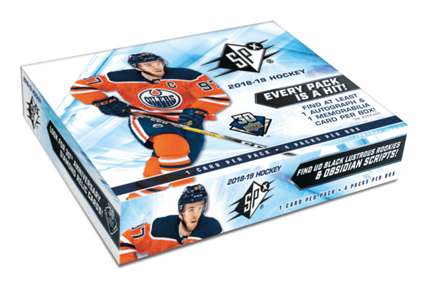 2018-19 Upper Deck SPX Hockey Hobby Box - BigBoi Cards
