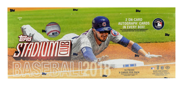 2018 Topps Stadium Club Baseball Hobby Box - BigBoi Cards