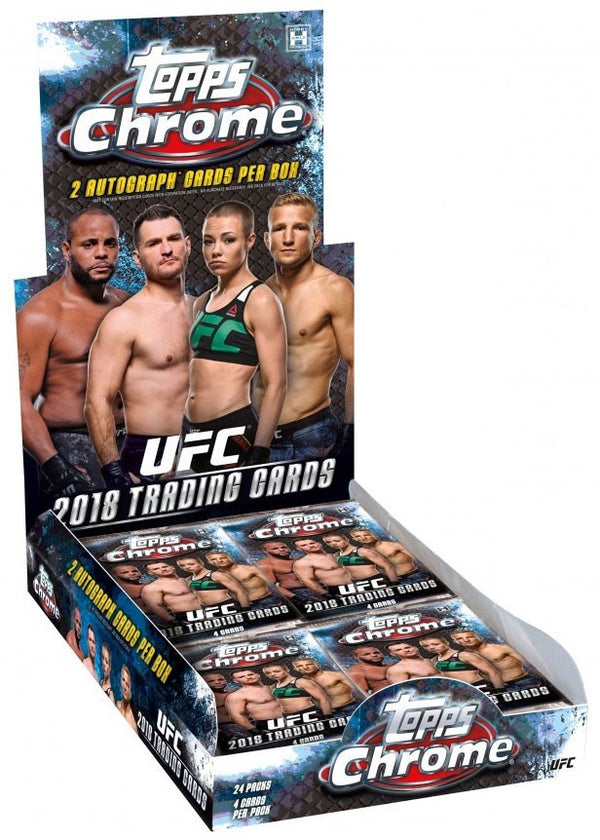 2018 Topps Chrome UFC Hobby Box - BigBoi Cards