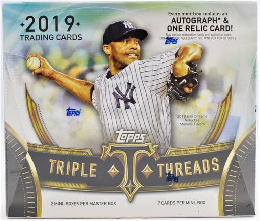 2019 Topps Triple Threads Baseball Hobby Box - Quecan Distribution