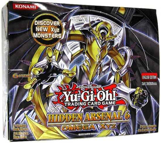 Konami Yu-Gi-Oh! TCG: Hidden Arsenal 6 Omega XYZ First Edition Booster Box - BigBoi Cards