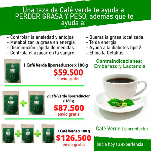 Cafe Verde Liporeductor