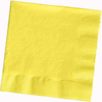 Mimosa Light Yellow Paper Cocktail Beverage Napkins