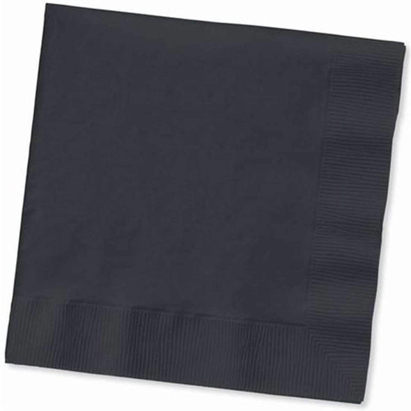 Black Cocktail Beverage Disposable Wedding Napkins