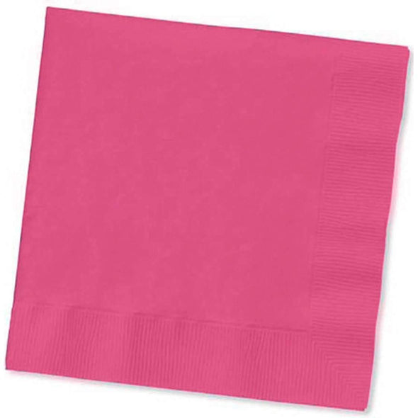 Hot Fuchsia Disposable Paper Wedding Cocktail Beverage Napkins