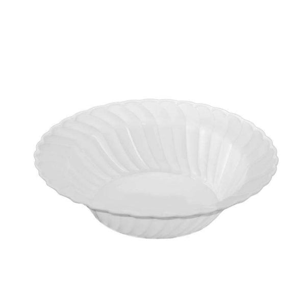 White Flair Disposable Plastic Wedding Dessert Bowls