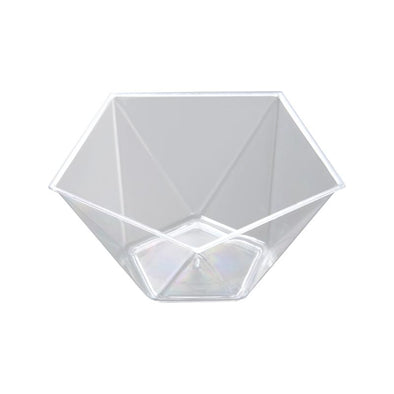 Clear Star Pentagon Disposable Plastic Dessert Cups