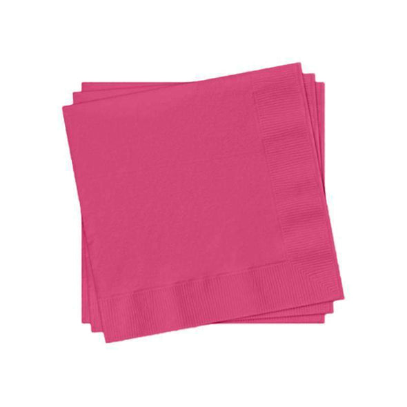 Hot Fuchsia Cocktail Beverage Napkins