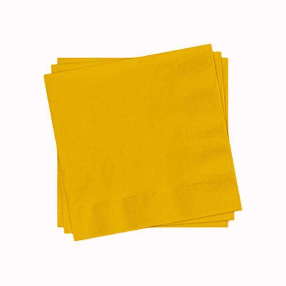 Schoolbus Yellow Paper Cocktail Napkins