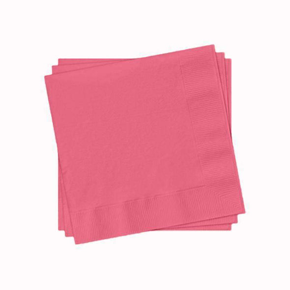 Candy Pink Paper Cocktail Napkins