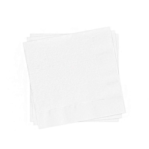 White Paper Cocktail Beverage Napkins