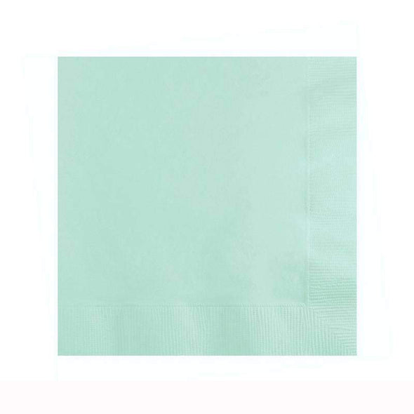 Fresh Mint Green Disposable Paper Wedding Cocktail Napkins