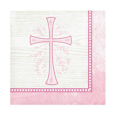 Divinity Pink Disposable Paper Beverage Napkins