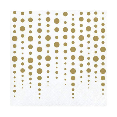 Gold Sparkle Shine Paper Beverage Napkins