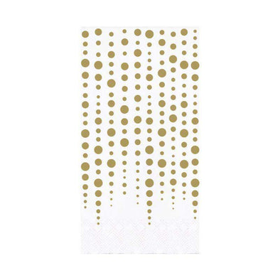 Gold Sparkle Shine Disposable Guest Towel