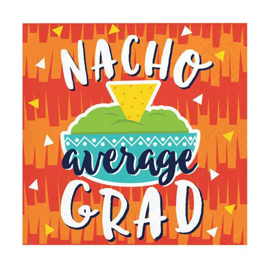 Fiesta Fun Nacho Graduation Disposable Paper Beverage Napkins